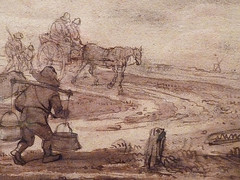 OSTADE Isaac,1644-49 - Paysage avec Voyageurs (drawing, dessin, disegno-Custodia) - Detail -g (L'art au présent) Tags: art painter peintre details détail détails detalles painting paintings peintures peinture17e 17thcenturypaintings peinturehollandaise dutchpaintings dutchpainters peintreshollandais tableaux paris fondation foundation france holland hollande animal animaux animals figures personnes man men hommes dog pet chien tree trees nature arbres chevaux traveller travellers ox boeufs boeuf oxes agriculture countryside campagne champs landscape isaack road chemin camino