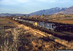 MoPac GP38-2s (jamesbelmont) Tags: missouripacific unionpacific scpv emd gp382 sw10 lakotajunction utah orem railway