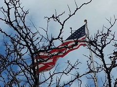December 2, 2017 - Old Glory in the wind. (LE Worley)