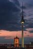 Berlin from above (martin.matte) Tags: berlin city urban telephoto cityscape evening night germany mitte fernsehturm alexanderplatz rathaus