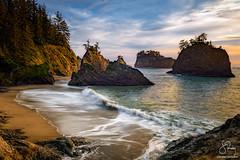 Secret Beach, Oregon Coast (Scott Rubey) Tags: beach boardman brookings clouds coast landscape nature northwest ocean oregon pacific scenic seastacks secret southern waves