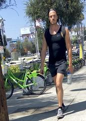 IMG_7521 (danimaniacs) Tags: hot sexy man guy mansolo tanktop westhollywood cap hat beard scruff shorts