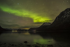Love at first sight (Manos Tzavaras) Tags: aurora norway fjord astrophotography starscape seascape