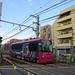 Toden 8800 Series Streetcar near Kishi-bozin-mae Station 4