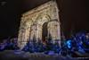 Arc Germanicus (Cognacpomme (17 souche 44) ❀) Tags: noël sapin nuit décoration saintes arcdetriomphe