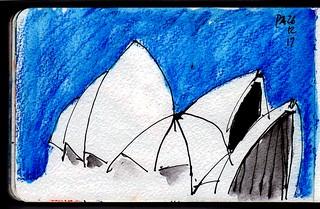 Sydney Harbour Opera House Blue Sky