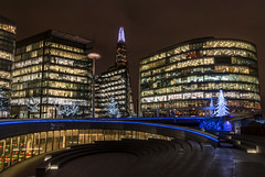 More London feeling festive (sarah_presh) Tags: theshard london morelondon thames england city christmas christmaslights christmastree londonbridge christmasbytheriver nikond750 evening night nighttime festive outdoor buildings lights thescoop
