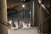 Not This Way... (marylea) Tags: universityofmichigan medicalcampus universityofmichiganmedicalcenter winter snow snowing snowy dec13 2017 michigan campus evening lights snowfall annarbor washtenawcounty
