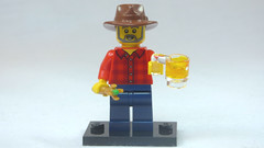 Brick Yourself Custom Lego Figure Dr Who Fan with Beer
