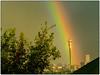 Hillbrow Tower in Rainbow (Finepixtrix) Tags: hillbrow jgstrydomtower hillbrowtower rainbow colours fujifilm finepix s5600 bridgecamera rain weather