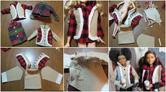 1. Coat Ornament Adjustments (Foxy Belle) Tags: barbie doll fashionistas 2017 rebody made move coat winter cell coffee tutorial how make
