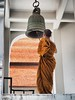 For whom the bell tolls. (fra_m88) Tags: monk religion color love passion trip travel holiday summer sun happiness street art thailand asia people urban portrait bokeh world city music