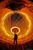All Our Yesterdays (john&mairi) Tags: wirewool lightpainting spinning eggwhisk night nighttime figure me slainslodge crudenbay aberdeenshire scotland uk new years day newyearsday 2018 halo