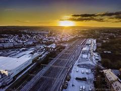 Winters view (AKphotographyStaffordshire) Tags: aerial weller karl akphoto akphotography drone rbs lec4 lec3 lec2 staffordshire dawn nwr networkrail britian industry railway rail network stafford dji mavic