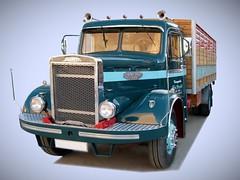 CAMION INGLES DIESEL LEYLAND COMET (1947-1952) (fernanchel) Tags: vehiculo ciudades torrent classic clasico truck leyland comet spain gimp
