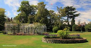 Climbing Rose Arbor & Raised Garden at Fairmont Empress Hotel - Victoria, British Columbia, Canada