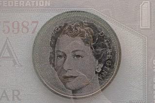MultiExp Queen Head 1976Dollar Centennial Bill _6870HMM