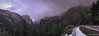The Road Home (Nick Kanta) Tags: california clouds color elcapitan nationalpark outdoorphotography pano panoramic road sky snow trees waterfall winter yosemitenationalpark yosemitevalley iphoneography