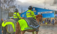Let em all cum down to The Den. (Vincent_GB) Tags: london theden championship mountedpolice horses police football middlesbrough millwall