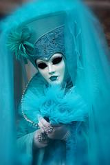 Charming Lady (ej - light spectrum) Tags: carnevale venezia venedig lady februar 2017 olympus omd em5markii mzuiko heart herz flowers m1240mmf28 maske mask costume kostüm colorful turquoise türkis venice february