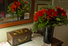 Amaryllis bouquet (Svein K. Bertheussen) Tags: blomst flower amaryllis bukett bouquet juleblomster christmasflowers refection speiling speil mirror sandnes rogaland norge norway kiste skrin box case chest
