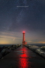 Pere Marquette Stars (golferboy2321) Tags: muskegon michigan stars lighthouse starscape sigma