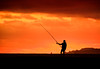 Ode to the modern hunter gatherer (ajecaldwell11) Tags: xe3 sunrise ankh dawn fujifilm light tide newzealand napier hawkesbay water sky silhouette capekidnappers caldwell clouds fisherman