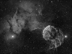 The Jellyfish Nebula (IC443) imaged in Hydrogen-alpha (Andrew Klinger) Tags: