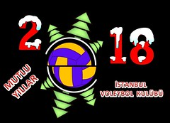 Happy new year 2018 and  Volleyball (istanbulvoleybol) Tags: new holiday vector year ball decoration 2018 background christmas happy wish party january green white fir volleyball stylish winter illustration wallpaper typography greeting poster modern design creative card celebration festive pattern snowflake waiting idea december decorative annual realistic texture plain number black round grey happiness blue banner abstract art shadow