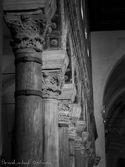 Colonnato di Sant'Apollinare Nuovo - Ravenna (frillicca) Tags: 2017 april aprile bn bw basilica basilicadisapollinarenuovo biancoenero blackandwhite capital capitello church colonnade colonnato colonne column inside italia italy monochrome monocromo panasoniclumixlx100 ravenna interno