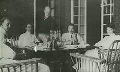 Allerton House, Robert (mustache) & guests, Monticello, IL c1905 (RLWisegarver) Tags: piatt county history monticello illinois usa il