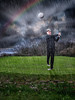 Tee off in a storm (paulbnashphotography.com - Sharpe Shooter) Tags: golf golfer rainbow storm rain ball spray tee player