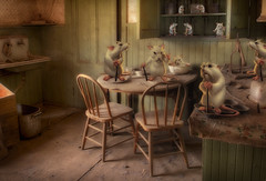 In the Kitchen (brian_stoddart) Tags: mice surreal composite colour tone toonish kitchen furniture