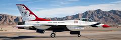 Thunderbird One (hotdog.aviation) Tags: usafthunderbirds thunderbirds unitedstatesairforce usaf nellisairforcebase nellisafb aviationnation