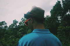Beautiful boy, darling boy (DannyGuardia) Tags: vintage indie photo photography landscape adventure travel tourism colours tumblr art darwin black love boy guy trees jungle sky clouds hat glasses destiny faceless beautiful summer clear heart