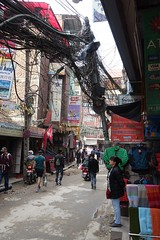 Thabahi Road (posterboy2007) Tags: kathmandu nepal thabahiroad cables wires linesman street sony