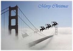 Merry Christmas, Happy Holidays (Gunn Shots (Irregular Access)) Tags: goldengatebridge fog merrychristmas santaclaus
