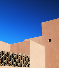 Rampart (studioferullo) Tags: abstract architecture art beauty bright building colorful colourful colors colours contrast dark design detail downtown edge light metal minimalism outdoor outside perspective pattern pretty scene sky study sunlight sunshine street texture tone weathered world arizona tempe museum wall lines diagonal geometry brown blue