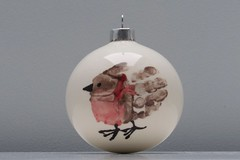 6375 Bauble-icious (Andy - Tak'n a breever) Tags: bauble bbb bird handprint hhh kai porcelain ppp white www