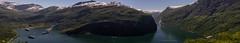 Panorama Geiranger Norway (Joke.Benschop) Tags: beautifulnorway fjordgeiranger geiranger geirangerfjordnorway jokebenschop landscape landschap nikonafs2470f28edif nikond810 noorwegen norway wwwjokebenschopcom