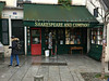 2017 Paris: Shakespeare and Company (dominotic) Tags: 2017 paris france bookstore shakespeareandcompany antiquarianbookseller storefront 37ruedelabûcherie history iphone6 sign gold green winterinparis