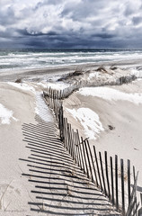 lines and shadows (marie palcic) Tags: winter newengland capecod snow cold ocean beach wintercoast barnstable