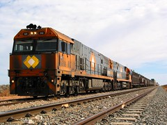 Kalgoorlie and the TAR in 2005 (Cris Fitzhardinge Aka CrisFitz) Tags: tar national rail nr railway south spur desert trans australian