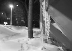Sous la glace d'Hochelag' (défi Noir et blanc 2, 3/7) (Pierre-Luc Daoust) Tags: blackandwhite darkness définoiretblanc glace hiver monochrome montreal montrealtransitcorporation montréal métro neige night nocturnal nocturne noiretblanc noirceur nuit publictransportation stm snow sociétédetransportdemontréal soir stationdemétropréfontaine transportcollectif transportencommun winter