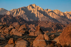 Lone Pine Peak at Sunrise (chasingthelight10) Tags: events photography travel landscapes highdesert mountains nature rockformations sunset sunsets sunrises sunrise places california lonepine alabamahills