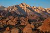 Lone Pine Peak at Sunrise (chasingthelight10) Tags: events photography travel landscapes highdesert mountains nature rockformations sunset sunsets sunrises sunrise places california lonepine alabamahills