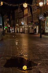 The fallen star (o_schopfer) Tags: noël spiegelung architecture city météo nightshot nuit oldtown photodenuit pluie rain reflection reflet stars vieilleville ville étoiles