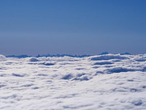 Erster Blick auf die Dolomiten