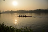 Morning paddlers (sanat_das) Tags: kolkata rabindrasarobar rowing paddlers coxlessfours skyline cityscape d800 28300mm