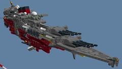 SCA_wip2 (Cagerrin) Tags: lego system spaceship starship wip ldd legodigitaldesigner 3d